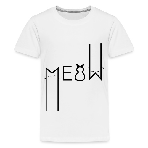 MEOW Miau Katze Süß Liebe - Teenager Premium T-Shirt
