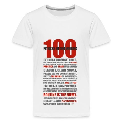 100 WORDS light shirt - Teenager Premium T-Shirt