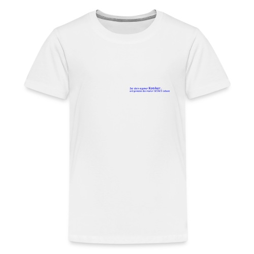Komiker blau - Teenager Premium T-Shirt