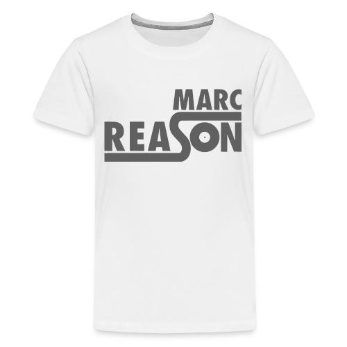 Marc Reason logo klein Grau - Teenager Premium T-Shirt