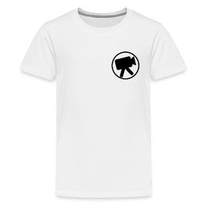logo zwart videotijd - Teenager Premium T-shirt