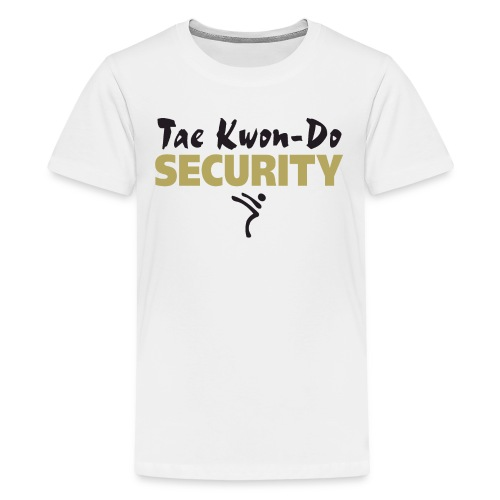 Taekwondo Security black & gold print - Teenage Premium T-Shirt