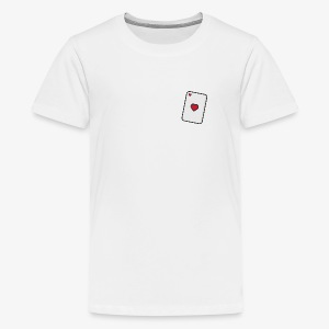 Hearts, Playing card - Teenage Premium T-Shirt