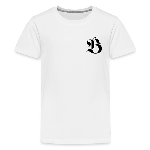 B logo - Premium-T-shirt tonåring