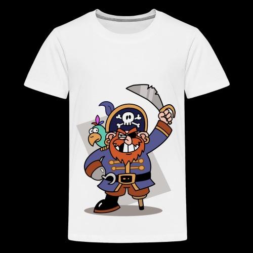 Pirat Zahnlücke mit Farbagallo - Teenager Premium T-Shirt