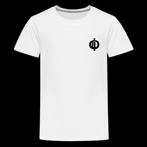 OLi Branded// Black and White - Teenage Premium T-Shirt