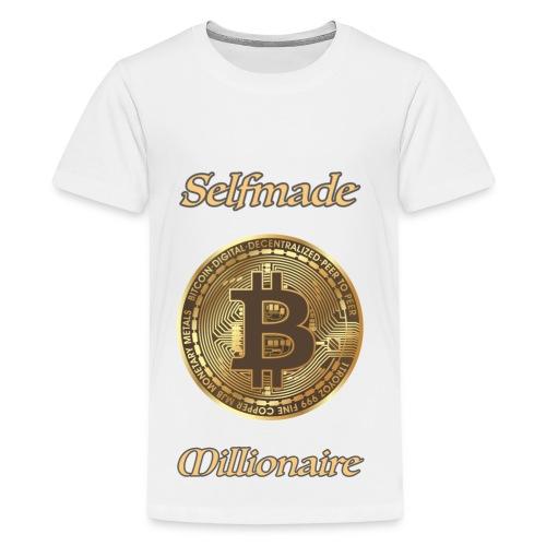 Bitcoin selfmade millionare - Teenager Premium T-Shirt