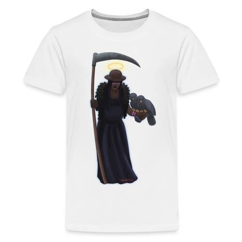 Malaria falciparum - schwarze Dame mit Sichel - Teenager Premium T-Shirt