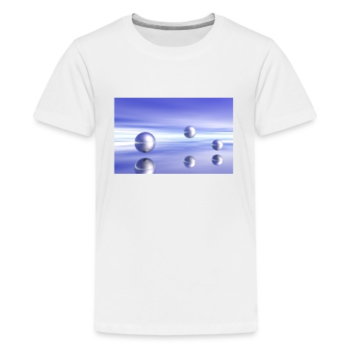 Kugel - Landschaft in 3D - Teenager Premium T-Shirt