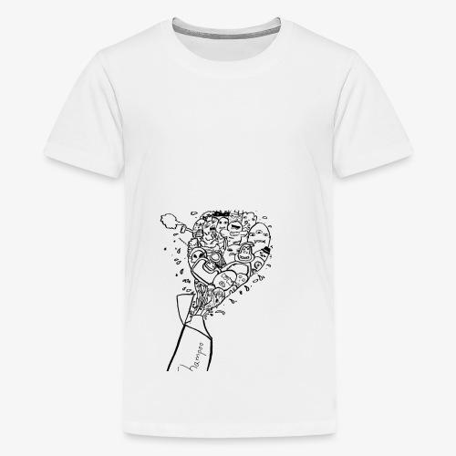 shampoo doodles - Teenage Premium T-Shirt