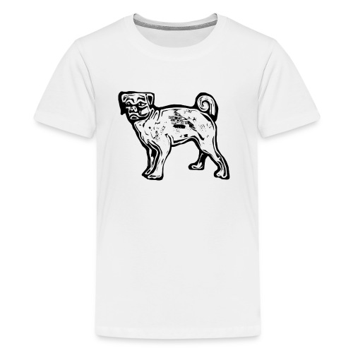 Pug Dog - Teenage Premium T-Shirt