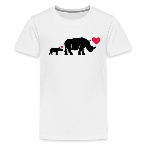 Russell Rhino mum and son - Teenage Premium T-Shirt