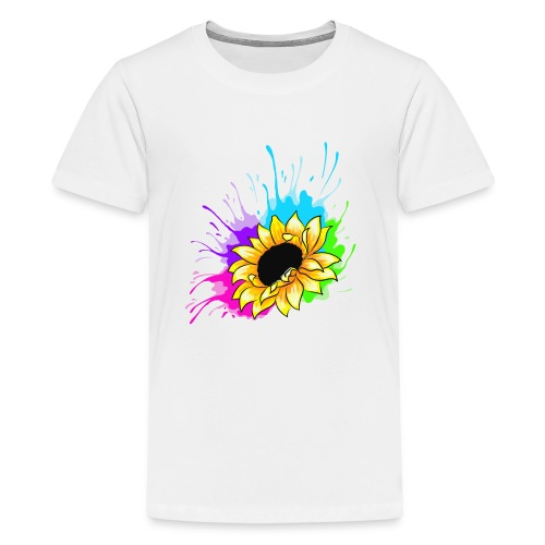 Sonnenblume Splash - Teenager Premium T-Shirt