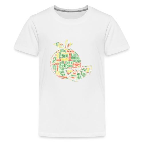 Vegan Word Cloud als Geschenkidee - Teenager Premium T-Shirt
