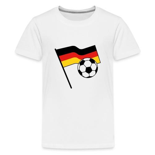germany flag soccer - Teenager Premium T-Shirt