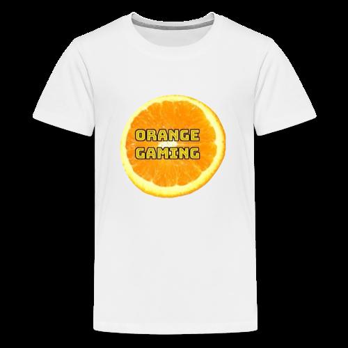 Orange_Logo_White - Teenage Premium T-Shirt