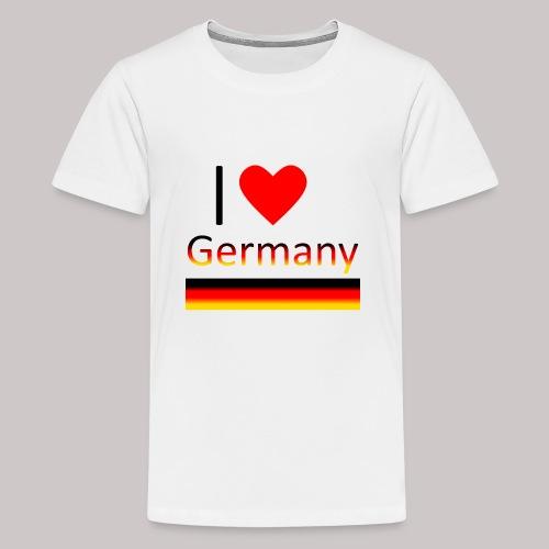 I love Germany - Ich liebe Deutschland - Teenager Premium T-Shirt