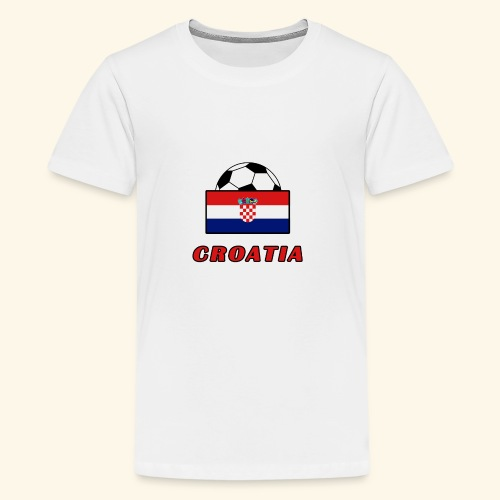 CROATIA TEAM design - Teenage Premium T-Shirt