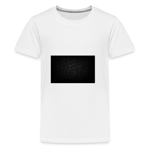 black background pattern light texture 55291 3840x - Teenage Premium T-Shirt