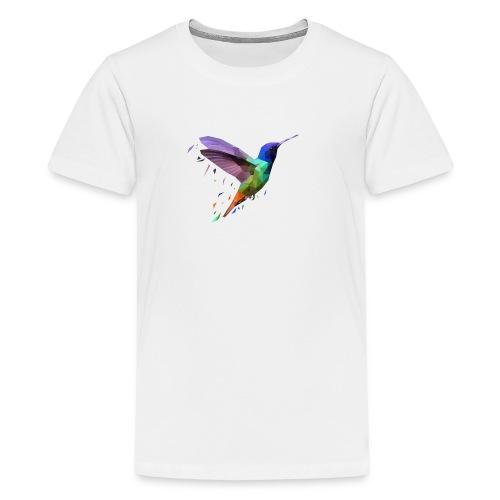 Polybird Pixels - Premium T-skjorte for tenåringer