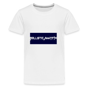 BallisticJimmyFTW Labelled Rectange White - Teenage Premium T-Shirt