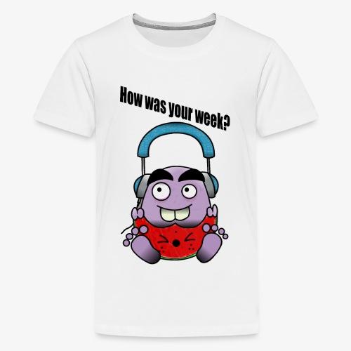 Melon Doodle - Teenage Premium T-Shirt