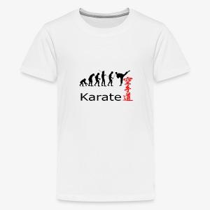 Karate Silhouette - Teenager Premium T-Shirt