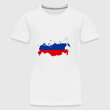 Rusland kort - Teenager premium T-shirt