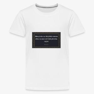 Zitat Albert Einstein - Teenager Premium T-Shirt