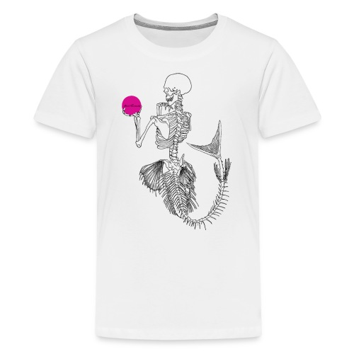 Black Mermaids Skelleton Pink Ball - Premium-T-shirt tonåring