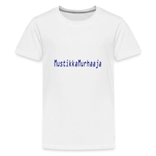 mustin tuotteet - Teinien premium t-paita