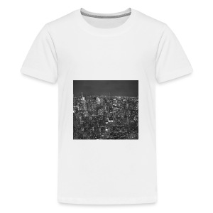 Manhattan at night - Teenager premium T-shirt