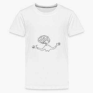 mózg - Koszulka młodzieżowa Premium