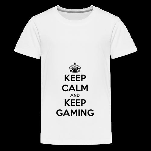 keep calm and keep gaming - Teenage Premium T-Shirt