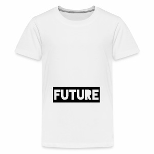 Future Clothing - Text Rectangle (Black) - Teenage Premium T-Shirt