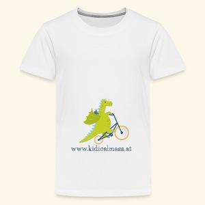 Musikdrache für hellen Hintergrund - Teenager Premium T-Shirt