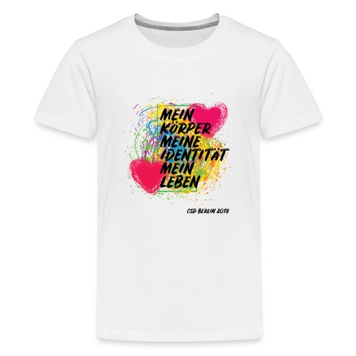 Motto CSD Berlin 2018 (deutsch) - Teenager Premium T-Shirt