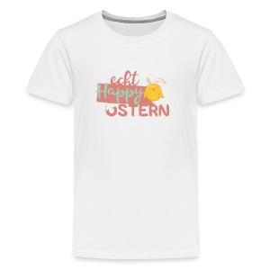 Echt happy Ostern kleines, gelbes Hasen-Kücken - Teenager Premium T-Shirt