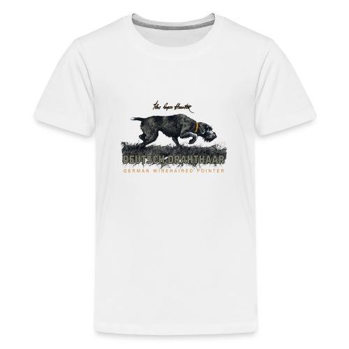 Deutsch Drahthaar Der Geborene Jäger - Teenager Premium T-Shirt