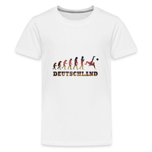 Evolution Fussball Deutschland - Teenager Premium T-Shirt