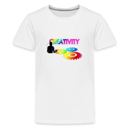 Kreativität - Bunde Livestyle Illustration - Teenager Premium T-Shirt