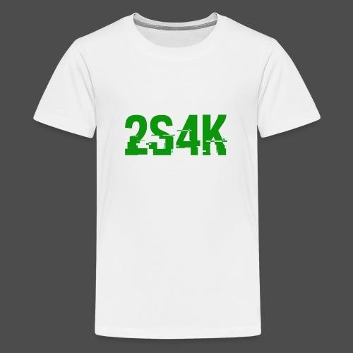 LOGO Grønn Hacked - Premium T-skjorte for tenåringer