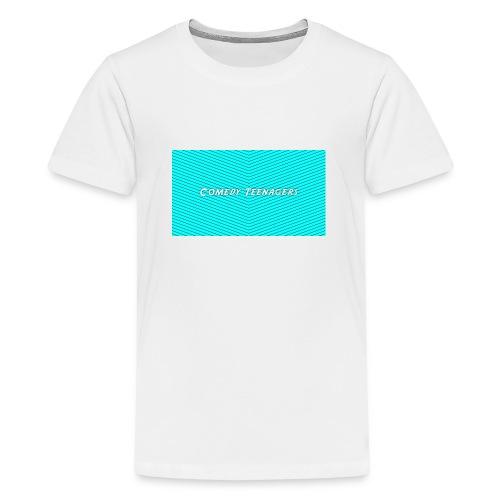 Light Blue Comedy Teenagers T Shirt - Premium-T-shirt tonåring