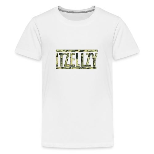 Camo Itz Ellzy logoc - Teenage Premium T-Shirt