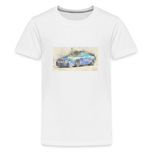GTR R34 watercolors - Teenager Premium T-Shirt