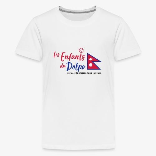 Les Enfants du Doplo - Grand Logo Centré - T-shirt Premium Ado