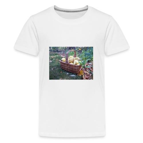 Quitten-Korb - Teenager Premium T-Shirt