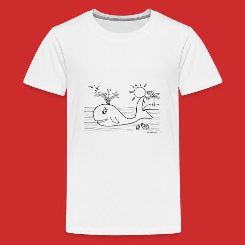 disegno_balenotta_da_colorare-jpg - Maglietta Premium per ragazzi