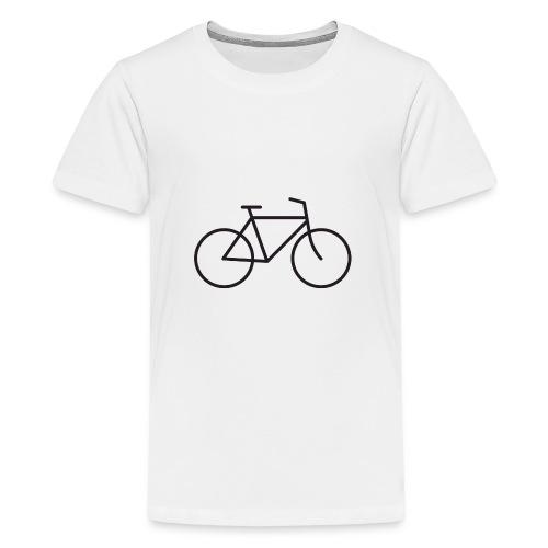 Bicycle black - Polkupyörä musta - Teinien premium t-paita