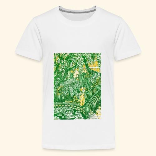 Children in a green garden - Teinien premium t-paita